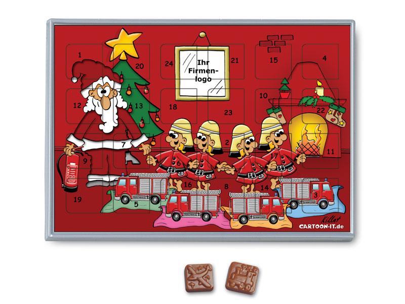 Schokoladen Weihnachtskalender.Adventskalender Aus Schokolade Feuerwehr