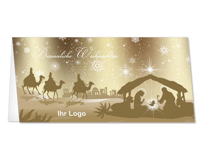 christliche weihnachtskarten mit jesus krippe