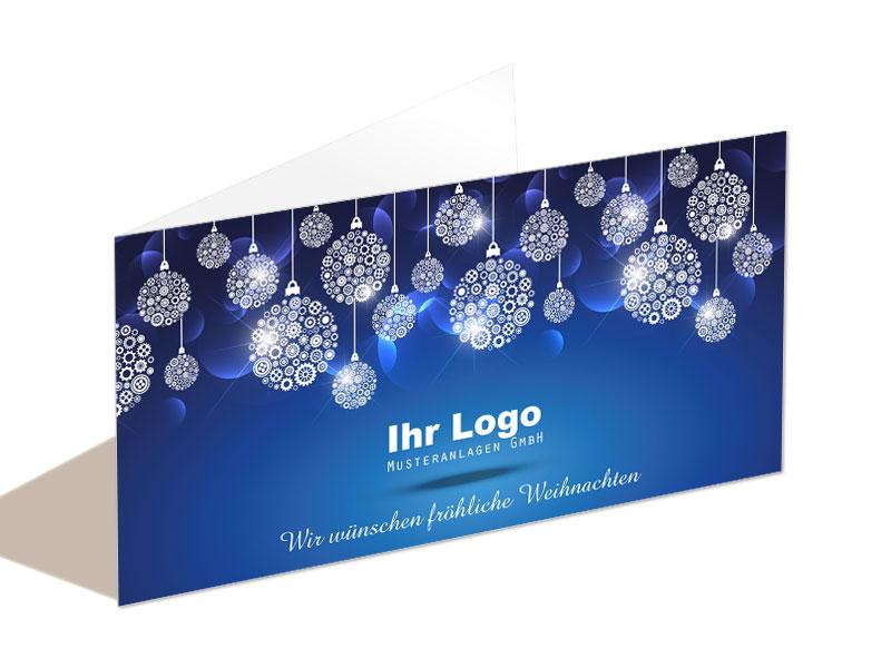 Edle Weihnachtskarten.Edle Weihnachtskarten In Blau