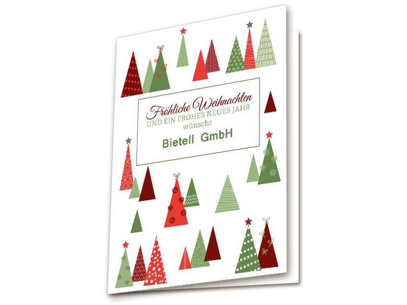 elegante weihnachtskarten tannen. Black Bedroom Furniture Sets. Home Design Ideas