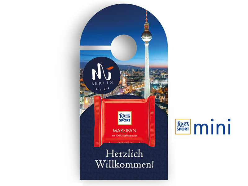 Logo oder Text auf Anhänger Schokoladen LKW mit Foto
