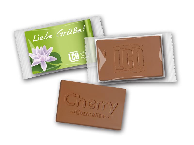 Schokoladen Visitenkarte Mit Logo Prägung