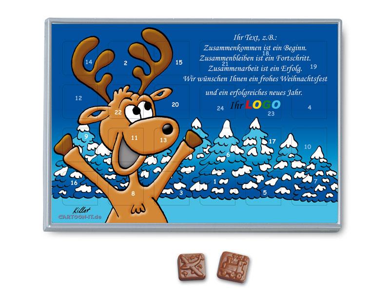 Weihnachtskalender Verschicken.Weihnachtskalender Mit Elch Motiv Comic