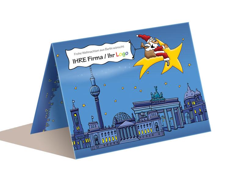 Weihnachtskarten Berlin.Weihnachtskarte A6 Berlin
