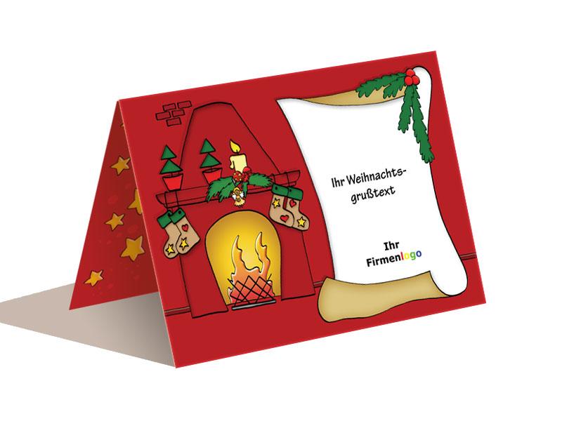Weihnachtskarten Foto Bestellen.Weihnachtskarte Kamin