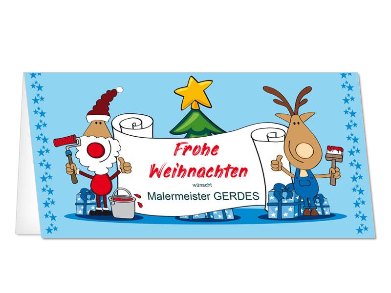 Weihnachtskarten Bilder.Weihnachtskarten Malermeister