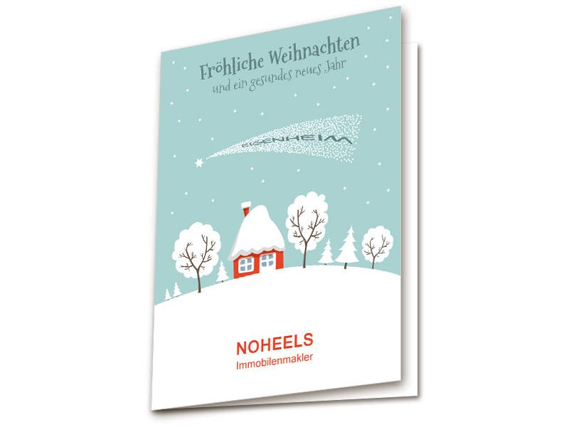 Bilder Weihnachtskarten.Weihnachtskarten Mit Haus Und Schnee